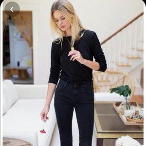James Perse Standard black shirt